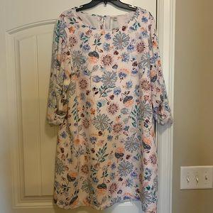 LC Lauren Conrad floral print shift dress
